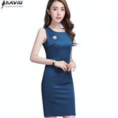 Nueva primavera moda mujeres vestido de negocios ol verano temperamento más tamaño  chaleco delgado sin mangas 362f0f2bf69