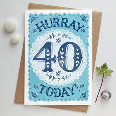 40th Birthday Card | Fortieth Birthday Card | 40th Birthday | Fortieth Birthday | Age 40 card | Big Birthday Card | Special 40th card