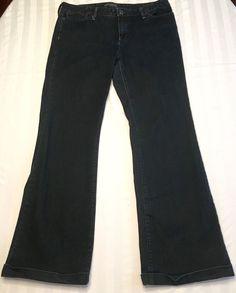 Women's BANANA REPUBLIC Dark Denim Bootcut Flare Jeans 12 #BananaRepublic #Flare