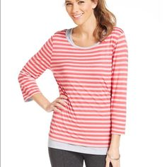 Style&co sports plus size layered striped top Style&co sports plus size layered striped top Style & Co Tops