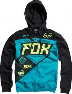 Fox Motocross, Motocross Store, Dirt Bike Riding Gear, Motorcycle Gear, Zip Up Hoodies, Hooded Sweatshirts, Boy Fashion, Mens Fashion, Fashion Outfits