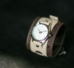 "Women's wrist watch Leather bracelet  ""Ancona-6""- SALE - Worldwide Shipping - Steampunk Watches on Etsy, $125.00"