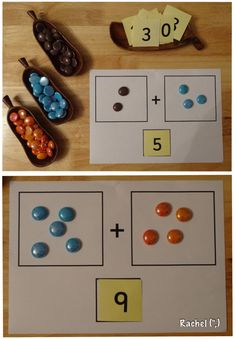 """Super simple way to work on combining numbers - from Rachel ("""",)"""