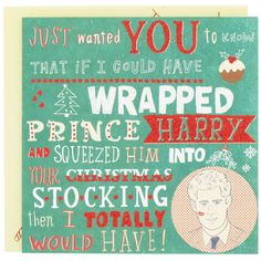 Prince Harry Christmas card from Paperchase