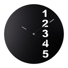 fejs wall clock from ikea Clock Art, Diy Clock, Clock Ideas, Wall Clock Ikea, Handmade Decorative Items, Construction Paper Flowers, Minimalist Clocks, Wall Watch, Metal Clock