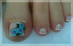 Uñas lindas Pedicure Designs, Pedicure Nail Art, Toe Nail Designs, Toe Nail Art, Toe Nails, Navy Nails, Bling Nails, Feet Nail Design, Magic Nails