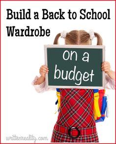 Build a Back to School Wardrobe for LESS! {writtenreality.com} #kids #backtoschool #schoolclothes