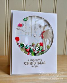 make a globe card  and use your imagination to put snow or anything in it