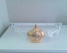 Dossel alumínio branco 40cm com coroa