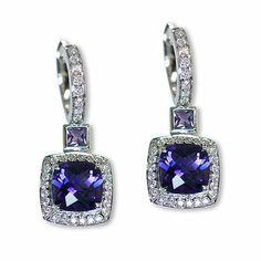 Here's one additional beautiful colorful gemstone earrings - Parris Jewelers Gemstone Colors, Semi Precious Gemstones, Gemstone Earrings, Diamond Engagement Rings, Colorful, Jewels, Beautiful, Bijoux, Gemstones