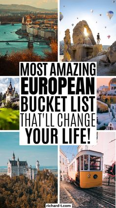 bucket list europe The ULTIMATE European bucket list that every single one of us needs to tick off in our life! This European bucket is amazing! Give it a read! Bucket List Europe, Bucket List Destinations, Europe Destinations, Europe Travel Tips, Travel Goals, European Travel, Travel Guides, Places To Travel, Places To Visit