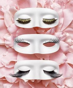 faux eyelashes - great way to display samples of eyelashes when they are in stores. I don't see this much, but would be nice, because it would let the buyer have some idea of what the lashes might look like on their own lids.