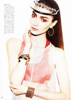 Vogue magazine featured the Sports Bra by #AmericanApparel, Japan, July 2013. #Vogue #magazine #sportsbra