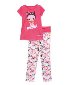 Another great find on #zulily! Pink 'Meow' Lalaloopsy Pajama Set - Girls by Lalaloopsy #zulilyfinds