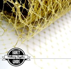 Metallic Gold   French  Russian  Veiling  Netting  1 by fancygoods, $5.99