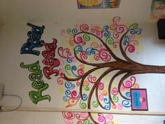 Swirly tree I painted for 1st grade