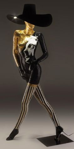 Italian Mosaic Mannequin Lamps for the Fashion Forward