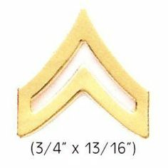 CORPORAL Police Fire EMS Army Collar Brass Pins Insignia Badge Emblem GOLD Finish, LARGE 3/4 x 13/16 (PAIR !) by HWC. $4.29. *Gold Finish ***SOLD AS A PAIR !, 2 INCLUDED !!! *CORPORAL Collar Pins *Clutch Backs included