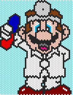 Dr Mario Bead Pattern