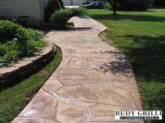 Concrete Walkways | Rudy Grilli Concrete Work - Stamped Decorative Concrete Walkways NJ