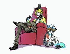 (Open rp I'll be dipper) *Bill pulls on the chain and I twist around* Bill! Your…