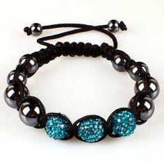 10mm Blue Macrame 3pcs Beaded Shamballa Ball Adjustable Bracelet Shamballa. $6.99. Adjustable. Blue Crystal. Macrame Bracelet