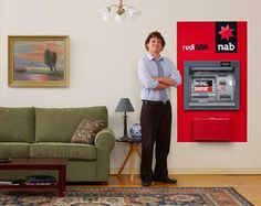 "In the spirit of ultimate convenience, and making our ATM network one of the most accessible in the country,"" an NAB promotional site says, ""We thought, hey why not see if someone wants an ATM in their loungeroom?"""