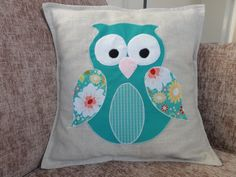Cute owl cushion / pillow by StitchToSew on Etsy, £15.00