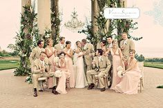 blush - champagne wedding- love the colors