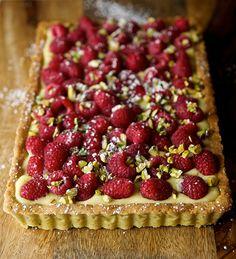 Raspberry- Pistachio tart...Yes-MorePlease!