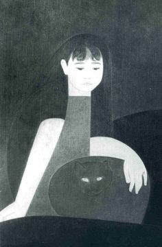 Painter and printmaker Will Barnet (May 1911 - November has lived through every major artistic school in modern American art. Black Cat Art, Barnet, Abstract Painters, Mural Painting, Paintings, American Artists, Crazy Cats, Female Art, Illustrations Posters