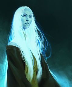 Even Amundsen digital painting Character design Sketchy Lady Ghost - Erasmus Dnd Characters, Fantasy Characters, Female Characters, Fantasy Inspiration, Character Design Inspiration, Painting Inspiration, High Fantasy, Fantasy Art, Character Portraits