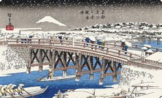 japanese woodcuts snowing - Google Search