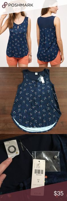 "Akemi + Kin Mai Keyhole Tank NWT Anthropologie top with keyhole detail!                                Rayon, spandex, polyester Keyhole detail Machine wash Imported Style No. 4112340389738 25.5"" Long Anthropologie Tops"