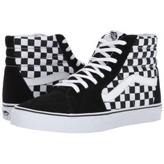 11c100d1124 Vans SK8-Hitm ((Checkerboard) Black True White 1) Skate Shoes
