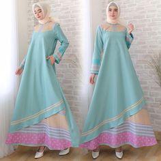 Batik Fashion, Hijab Fashion, Fashion Outfits, Womens Fashion, Dress Muslim Modern, Muslim Dress, Batik Dress, Blouse Dress, Modern Kebaya