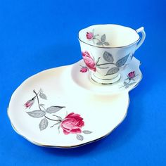 Royal Albert Trent Rose Tea Cup & Saucer Tennis Snack Set | Pottery & Glass, Pottery & China, China & Dinnerware | eBay!