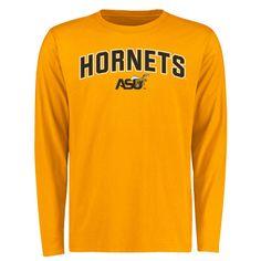 Alabama State Hornets Proud Mascot Long Sleeve T-Shirt - Gold - - $27.99