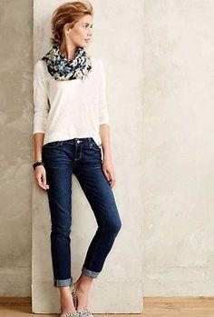 Looks con jeans y camisetas para otoño 2015 | ActitudFEM