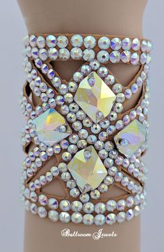 Ballroom Jewels - Ballroom Bracelet Four Glactic crystals. 🌺🌻✿ ❀ ❁✿ For more great pins go to Latin Dance Dresses, Ballroom Dance Dresses, Ballroom Dancing, Jazz Costumes, Belly Dance Costumes, Ballroom Jewelry, Dance Accessories, Figure Skating Dresses, Dance Outfits