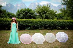 Sombrillas de encaje de distintos colores