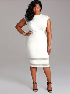 WHITE DRESSES PLUS SIZE - Kapres Molene
