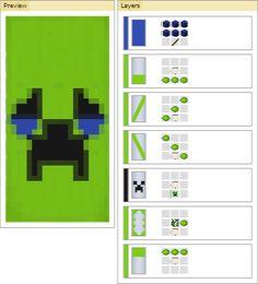 Sad/Crying Creeper Banners : Minecraft