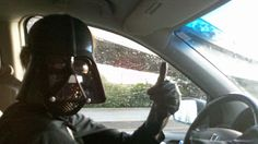 Darth Vader drives a minivan.