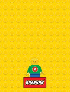 Lego Birthday Invitation by PeaSizeDesign on Etsy,