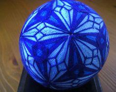 Hand made Temari ball (blue)