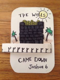 (The warrior leader) Joshua Walls of Jericho Bible Craft - Marchers spin (march) around the walls… This craft will help you prepare your Sunday school lesson on Joshua on the Bible story of Joshua and the wall of Jericho. Bible Story Crafts, Bible School Crafts, Bible Crafts For Kids, Preschool Bible, Bible Lessons For Kids, Bible Activities, Bible Stories, Sunday School Projects, Sunday School Kids