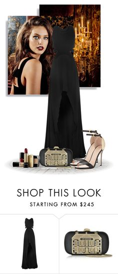 """""""#534"""" by alicab07 ❤ liked on Polyvore featuring Jay Ahr, Love Moschino, Sergio Rossi, Lancôme, Gowns, SergioRossi, emilydidonato, LoveMoschino and Lamcome"""