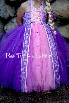 Traje de vestido de Rapunzel de Rapunzel Tutu por GlitterMeBaby