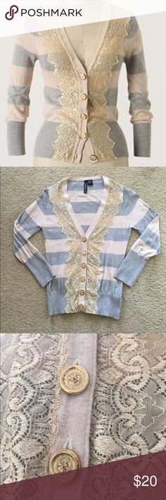 Anthropologie Field Game Cardigan, Sz M This is the Field Game Cardigan from Anthropologie, by Charlotte Tarantola. Size medium but fits more like a small. In excellent condition, but the buttons are a bit tarnished from age (see last pic). Anthropologie Sweaters Cardigans